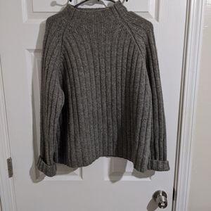 J Crew Mock Neck Wool Men's Sweater Size Large